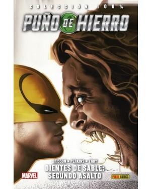 Colección 100% Marvel HC: PUÑO DE HIERRO 02: DIENTES DE SABLE: SEGUNDO ASALTO