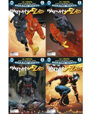 BATMAN/FLASH: LA CHAPA (pack de 4 revistas)